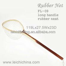 extra long handle rubber fishing landing net