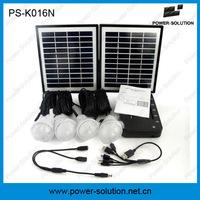 luz solar sistema solar de 4 LEDs para zona rural