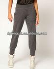 custom new design preshrunk 100% cotton women grey sweat pants
