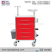 Modern Hospital Medical Emergency Crash Trolley / Cart with lock