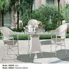 White & Round Garden Chairs Iron Ranttan Outdoor Furniture 8069#