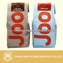 Kraft paper coffee bag / tea bag pillow shape packaging with valve