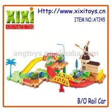 2014 Rail train toy,toy car track plastic,slot toys racing car