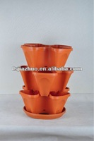 18'inch plastic planter stack pot is stackable planters and it is garden planter wholesale