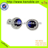 Fashion popular factory price Crystal mens cuff links