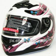 2015 ECE/DOT light weight full helmet Hot Sale Moto Full Face Helmets motorcycle helmets full face helmets White/red JX-A5003