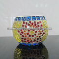 yapımı cam mozaik mumluk