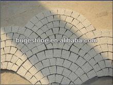 Mesh backed patio stone paving stone decorative