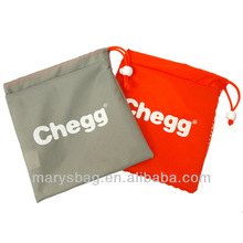 Nylon and mesh drawstring pouch with ball and lock closure