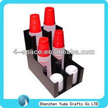 Manufacture acrylic black paper cup dispenser