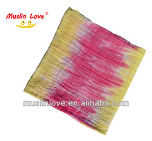"Fashion~100% Bamboo Muslin Swaddle Tie Dye Blanket Super Soft 47x47"" After Washed"