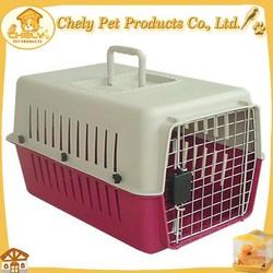 Durable Dog Travel Carrier Pet Cage Plastic Dog Carrier