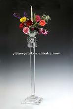 Crystal candleholder candelabra with flower bowl for wedding centerpiece