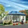 iso9001 prefabricados de acero moderna villa