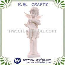 White polyresin child angel figurine