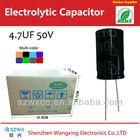 General 5*11mm SMD Electrolytic Capacitors 4.7uf 50v Low voltage Supplier