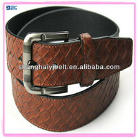 Wholesale Brown Genuine Leather Belt For Men With Steel Buckle YJ-FC328-1