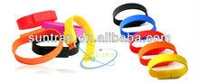 Promotional Gift Silicone Bracelet USB Memory Wristband USB pendrive USB Flash