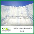 Elástico en la cintura de la materia prima para& baby pañal para adultos