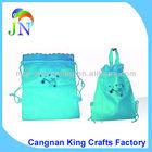 Mini Size Silkscreen NON-woven Drawstring Bag With Handle For Kids