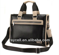 2013 hotsale beautiful leisure & business stylish leather brand man bag tote & shoulder wholesale factory directly