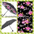 Belo desenhos de flores guarda-chuva pintura em tecido