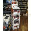can beverage floor stand 4 tiers clip display standing sheving display cardboard display stand