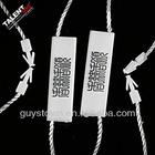 custom quality string seal tag, hang tag string, garment plastic seal tag