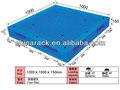 tamanho padrão duráveis palete de plástico para uso industrial