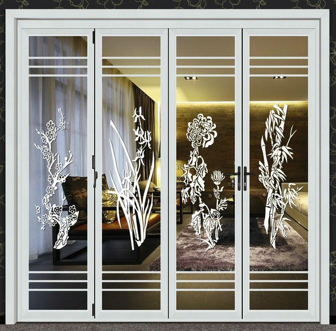 De aluminio de acorde n plegable puertas para puertas - Puerta plegable de aluminio ...