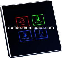 Hotel electronic doorplate/hotel doorbell switch/wired doorbell switch