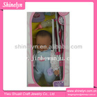 SLD-396 top selling new reborn baby doll with stroller pram plastic vinyl carriage trolley 20 inch