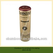 Round wine tin case