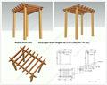 Arco de jardin de madera olda-5003 10ft. * 7 pies. * 9 pies.