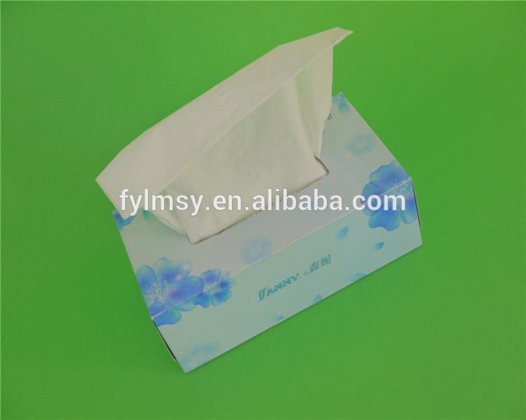 19x20150แผ่นเนื้อเยื่อใบหน้ากล่องกระดาษเช็ดปาก