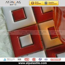 Rouge et blanc céramique mosaïque modèles pour cuisine