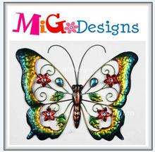 Factory Manufacture Handmade Art Design Metal Wall Butterfly