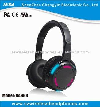 LED wireless stereo earphone headphones for TV/DVD/PC(DA988)