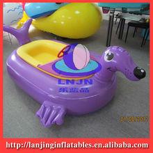 children bumper boat in pool