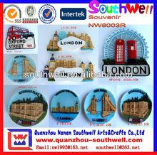 customized 3D resin country souvenir fridge magnets
