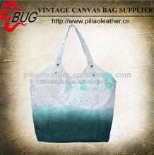 Fashionable Canvas Dip Dye Tote bag/Canvas Hangbag for girls