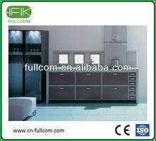 Smoky gray PVC kitchen cabinets