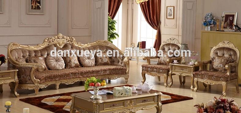 Luxury king size bedroom furniture sets - 5 Star Hotel Lobby Sofa Furniture King Size Luxury Royal