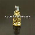 antiguo de oro de cristal botella de perfume