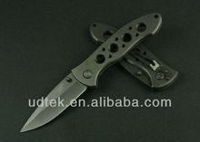 HIGH QUALITY OEM C.J.H.-385 TITANIUM SURFACE TACTICAL FOLDING KNIFE UTILITY KNIFE OUTDOOR KNIFE UDTEK01804