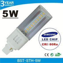 Promotion price 4G high lumens 85Ra 5w 5050 smd led light bulb g24