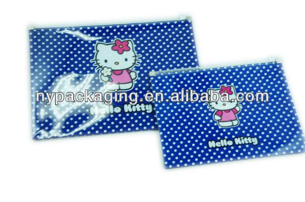 clear zipper envelope file bag