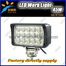 High lumen New 45W 24V rectangular Epsitar LED Work Light 6000K 4x4 ATV Tractor Train Bus Flood/spot Beam