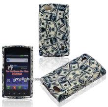 US.Dollars Money Skin Cover For LG MS 695 Crystal Design Hard Plastic Case