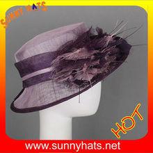 Cheap purple sinamay fascinator party hat